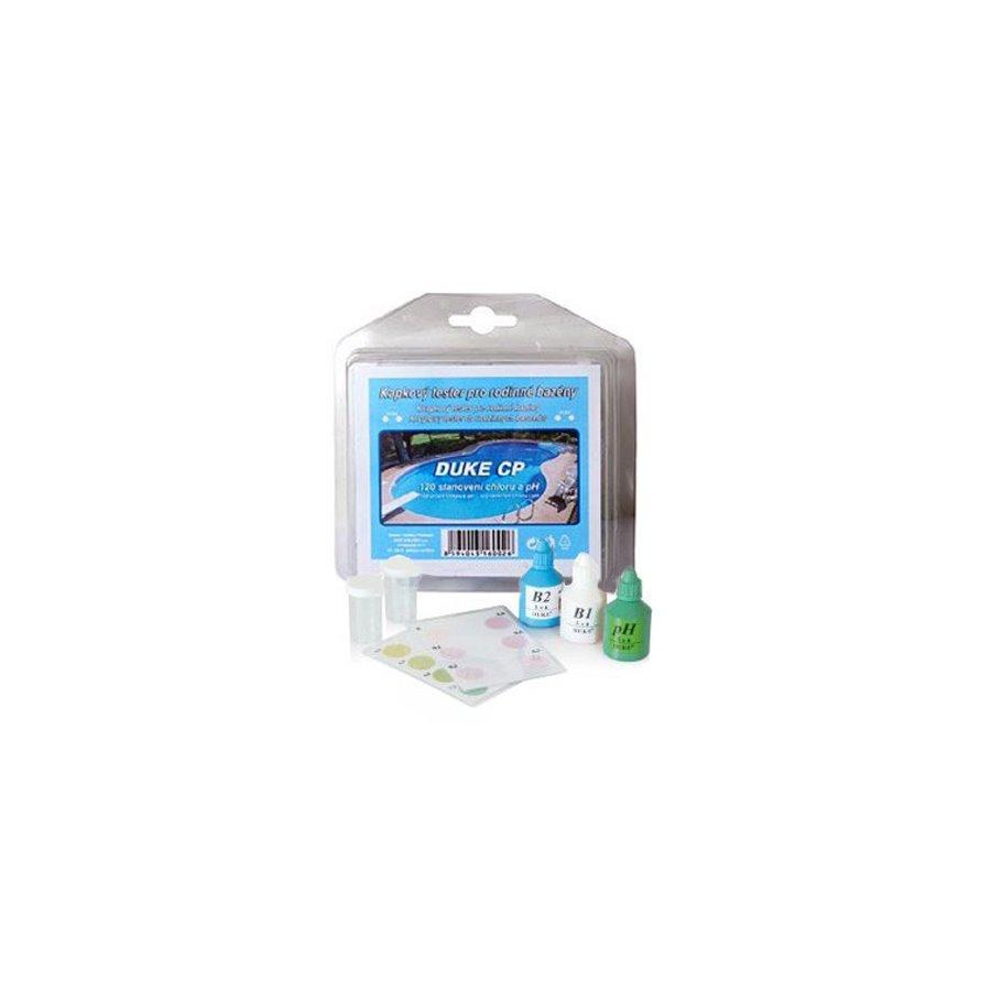 Vodnář Bazénový kapkový tester pro stanovení chloru a pH
