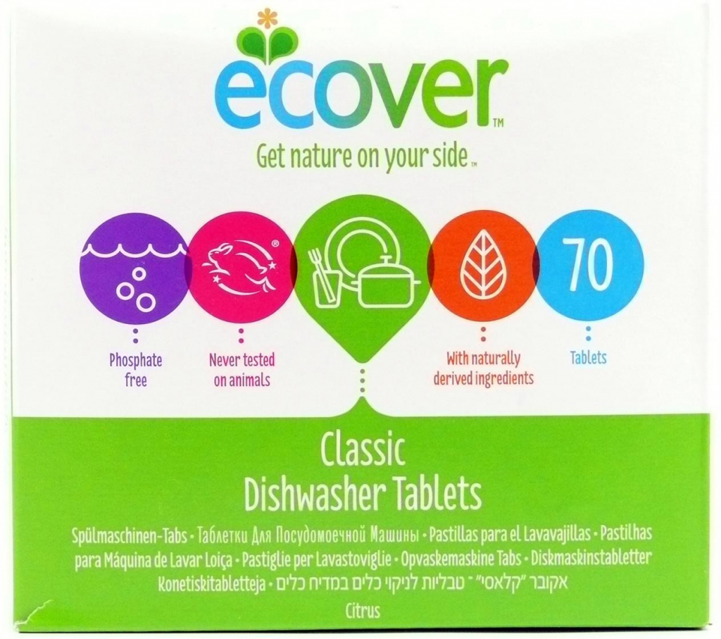 Ecover tablety do myčky XL balení Classic 1,4kg