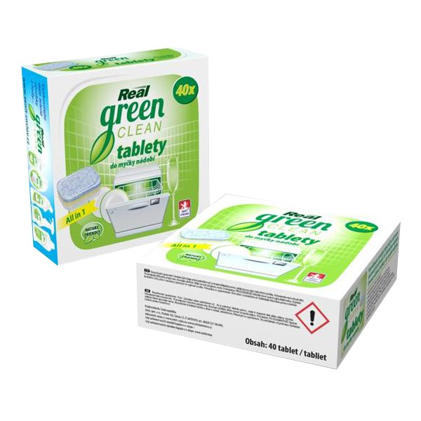 Real Green Clean tablety do myčky 40ks
