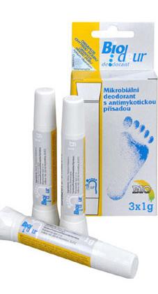 Biopreparáty Biodeur deodorant prášek chytrá houba 3x1g