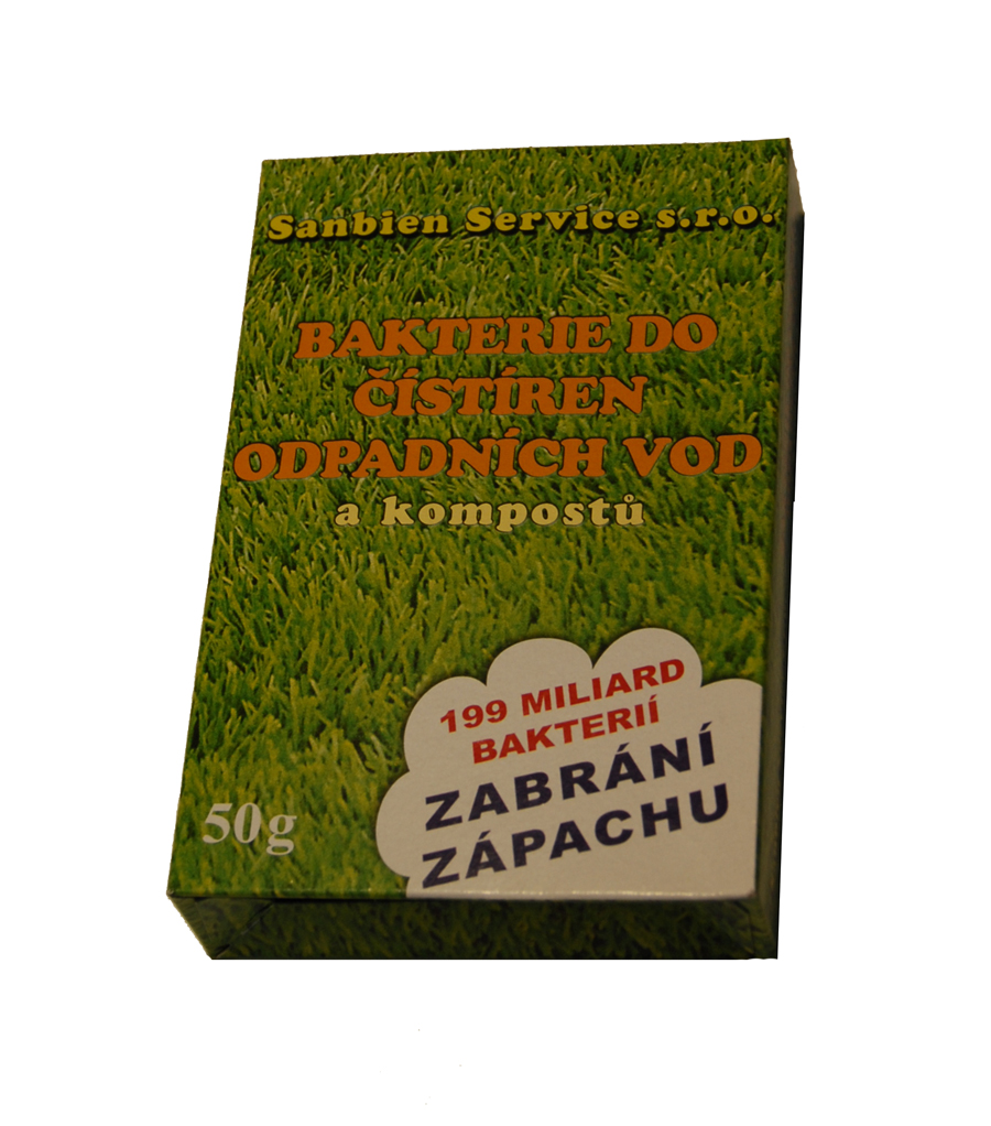 Sanbien Oxygenator bakterie do ČOV, zahradních jezírek a kompostů 50g