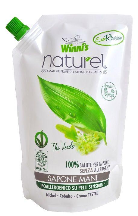 WINNI´S Naturel Sapone Mani Thé Verde Ecoricarica 500ml